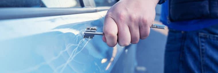 rayure de voiture et assurance auto